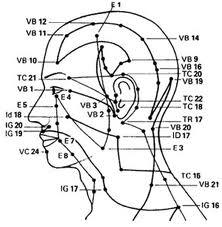 meridianos cabeça